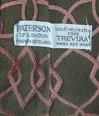 Trevira Wash & Wear vintage 1960s tie Patersons of London